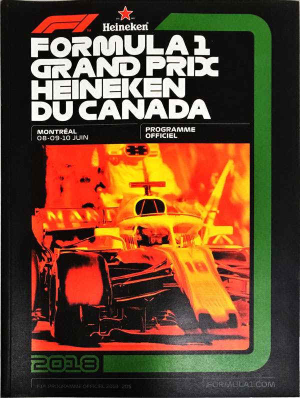 F1公式プログラム 2018 カナダGP(メディアキット付