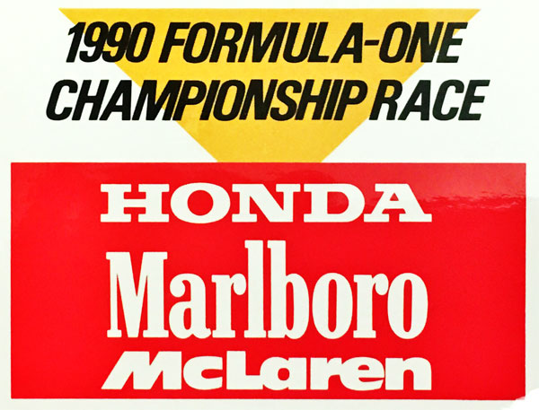 HONDA ホンダ マールボロ マクラーレン 1990年 プロモーションステッカー