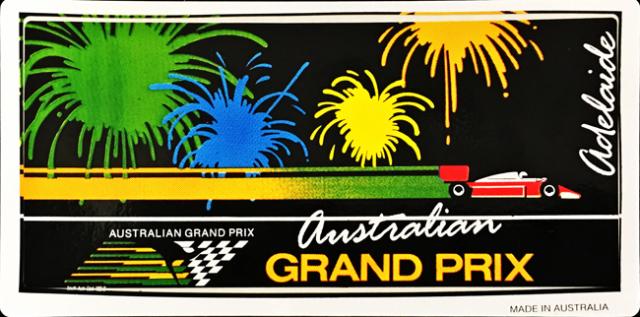 F1 1980年代 オーストラリアGP 開催記念ステッカー(C)