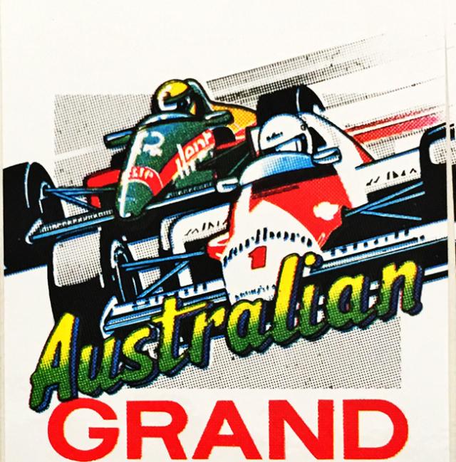 F1 1980年代 オーストラリアGP 開催記念ステッカー(B)