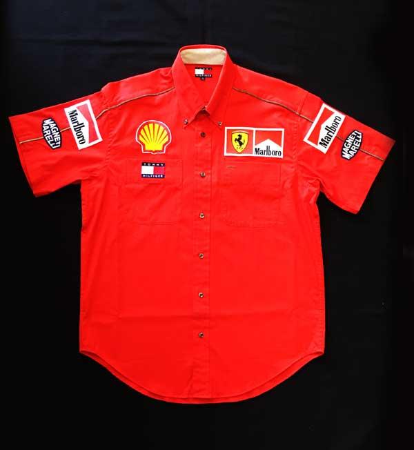 2000年 フェラーリ(FERRARI F1) チーム支給品 PIT(ピット)シャツ TOMMYHILFIGER製 サイズS(日本サイズM)ほぼ新品