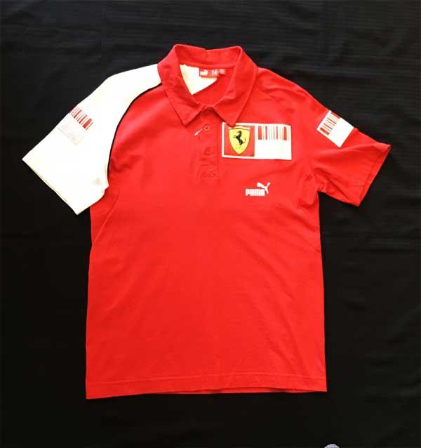 【SALE】2014 フェラーリ(FERRARI F1) パドッククラブ支給品ポロ サイズM USED(ほぼ新品)