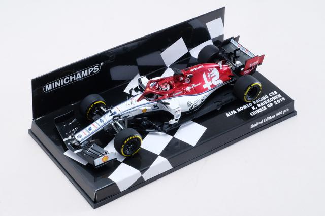 海外別注 ミニチャンプス 1/43 アルファロメオ C38 K.ライコネン 2019年中国GP