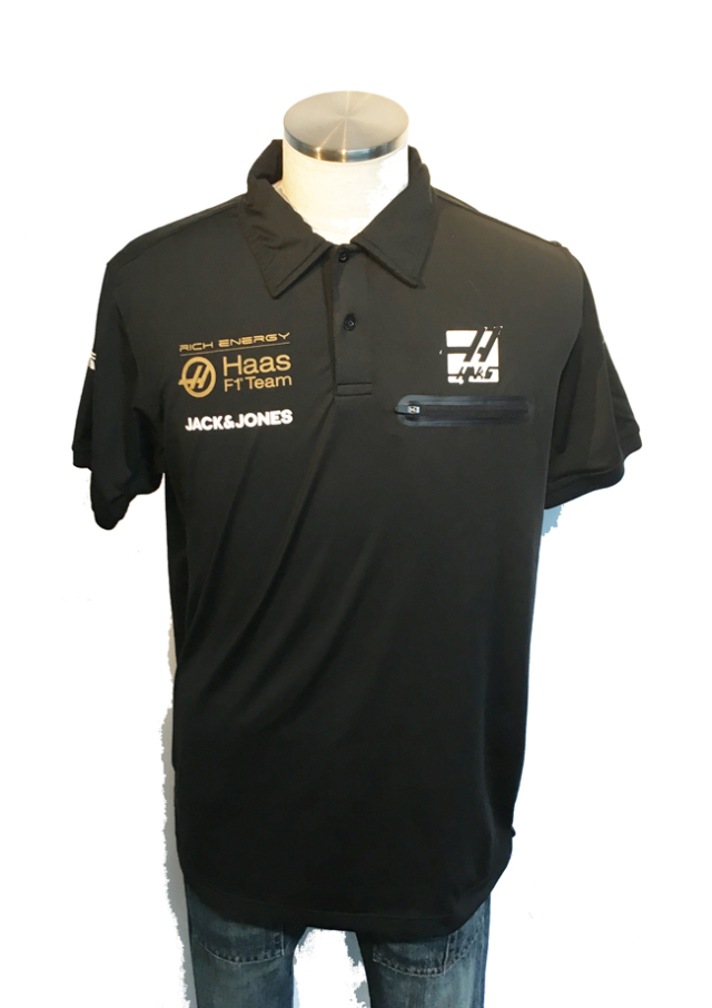 【SALE】ハースF1チーム 2019 チーム支給品 チーム襟付きシャツ サイズL USED