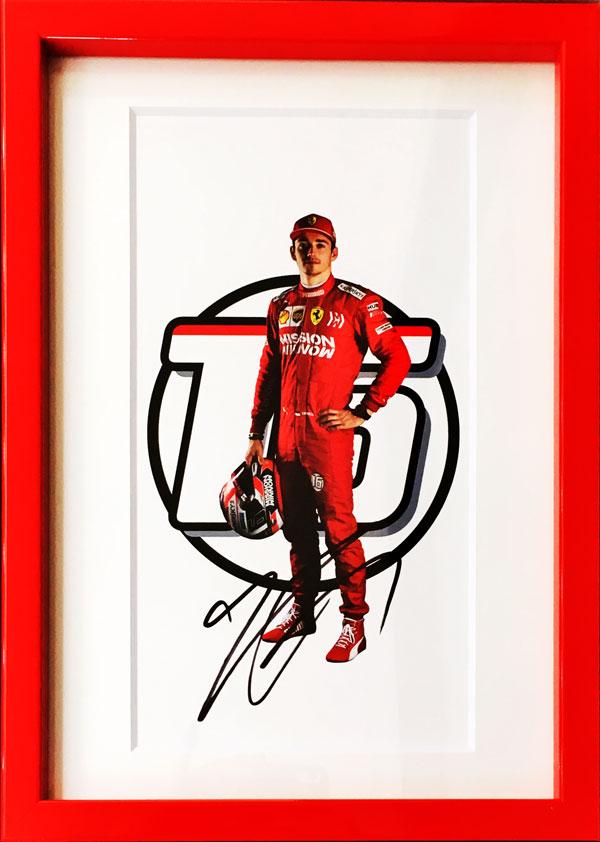C.ルクレール直筆サイン入  2019 フェラーリ ドライバーズカード(額装品)