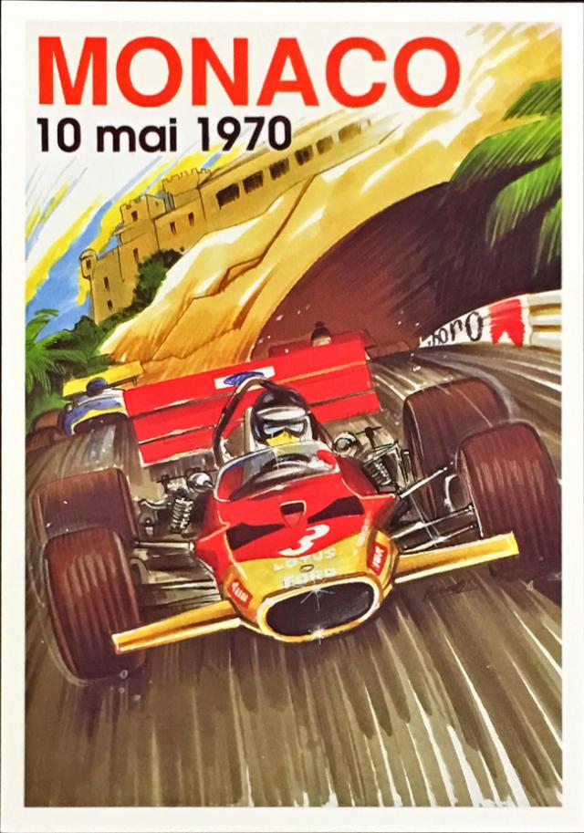 F1モナコGP 1970 公式ポストカード