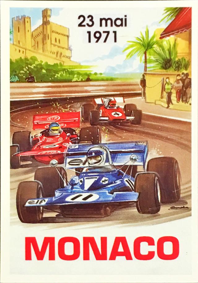 F1モナコGP 1971 公式ポストカード
