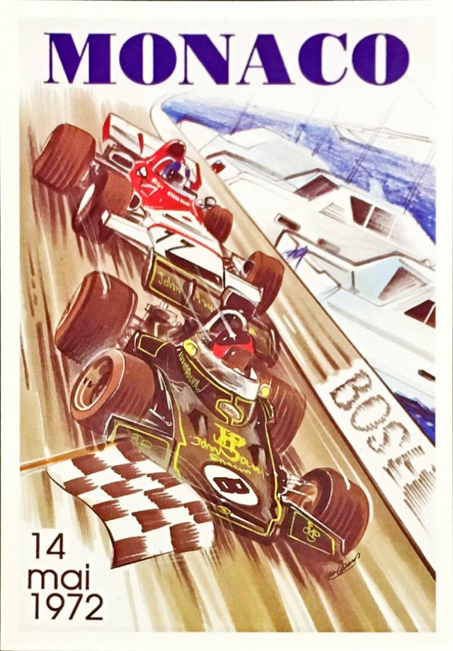F1モナコGP 1972 公式ポストカード