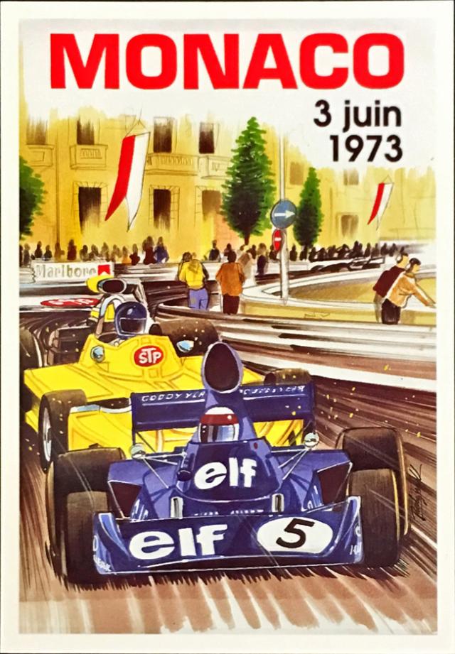 F1モナコGP 1973 公式ポストカード