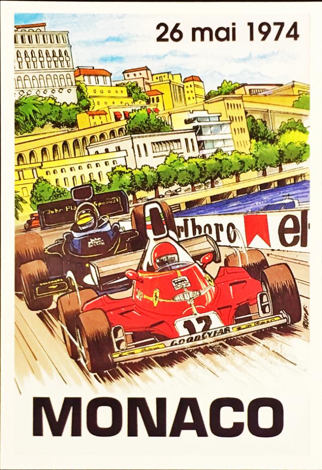 F1モナコGP 1974 公式ポストカード