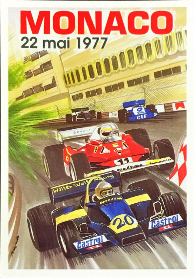 F1モナコGP 1977 公式ポストカード