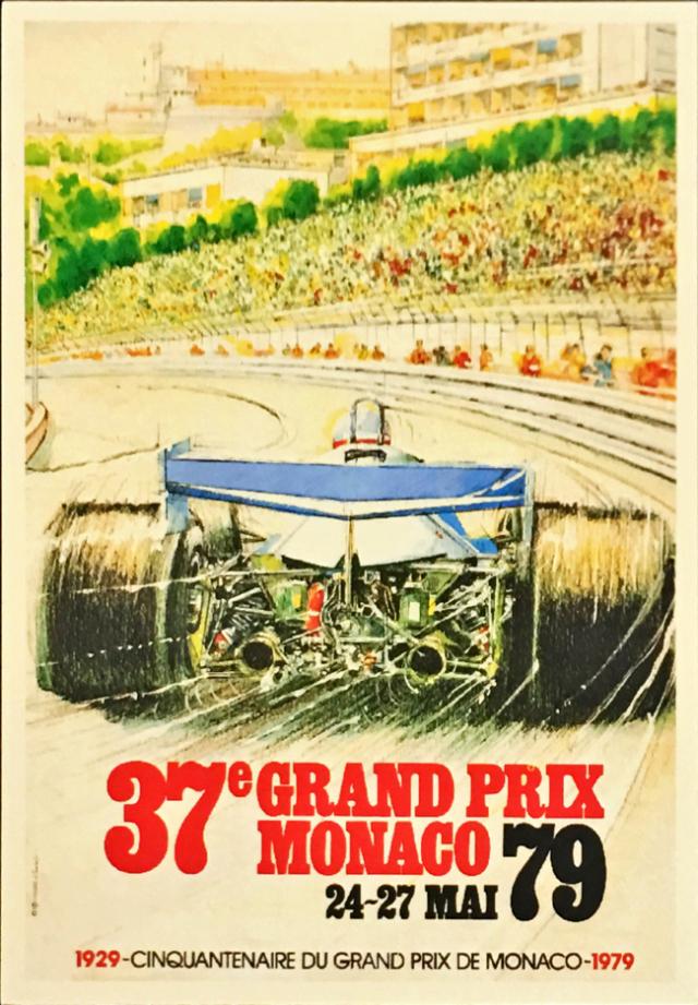 F1モナコGP 1979 公式ポストカード