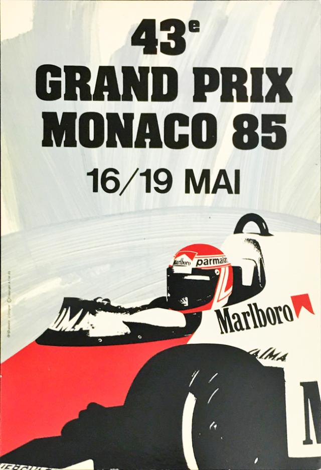 F1モナコGP 1985 公式ポストカード