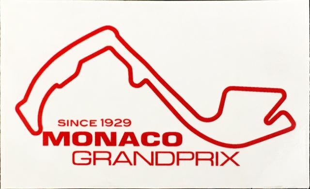F1モナコGP コースステッカー