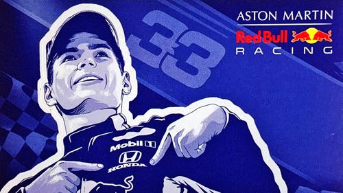 ASTON MARTIN REDBULL RACING レッドブル キャンペーンステッカー TYPEB
