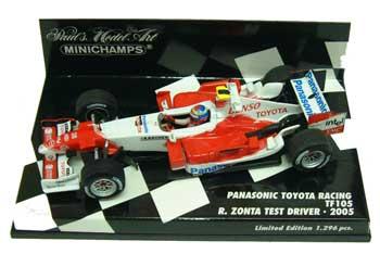 ミニチャンプス 1/43 TOYOTA(トヨタ) TF105 テストドライバー2005 ゾンタ 1296台限定