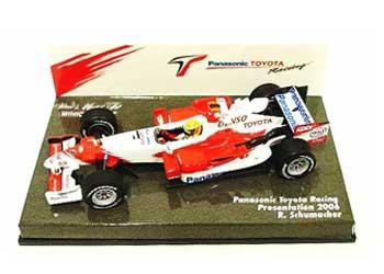 ミニチャンプス 1/43 TOYOTA(トヨタ) 2006 TF106ショーカー(プレゼンモデル) TOYOYAボックス ラルフ
