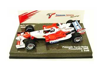 ミニチャンプス 1/43 TOYOTA(トヨタ) 2006 TF106ショーカー(プレゼンモデル) TOYOYAボックス トゥルーリ