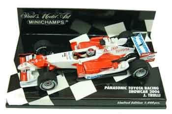 ミニチャンプス 1/43 TOYOTA(トヨタ) F1 2006ショーカー トゥルーリ