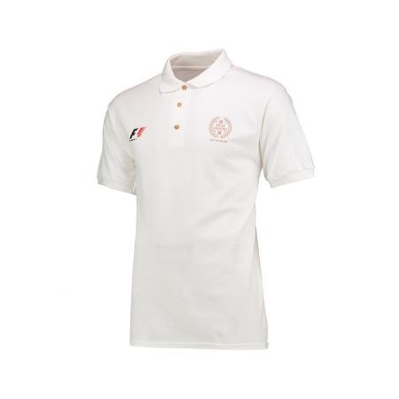 F1 2017 イギリスGP公式 ポロシャツ カラーホワイト サイズM(日本サイズL)