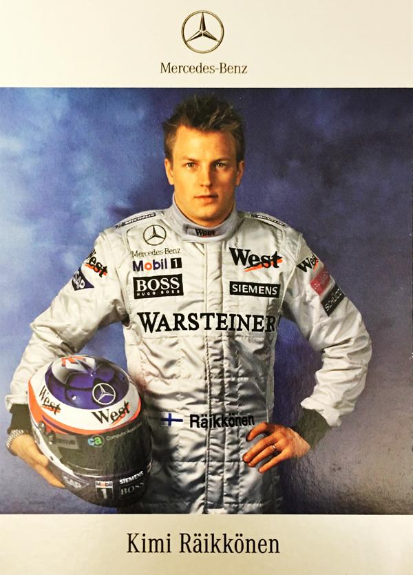2004 マクラーレン F1 K.ライコネン ドライバーズカード