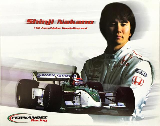 中野信治 2001  インディ フェルナンデスレーシング ドライバーズカード