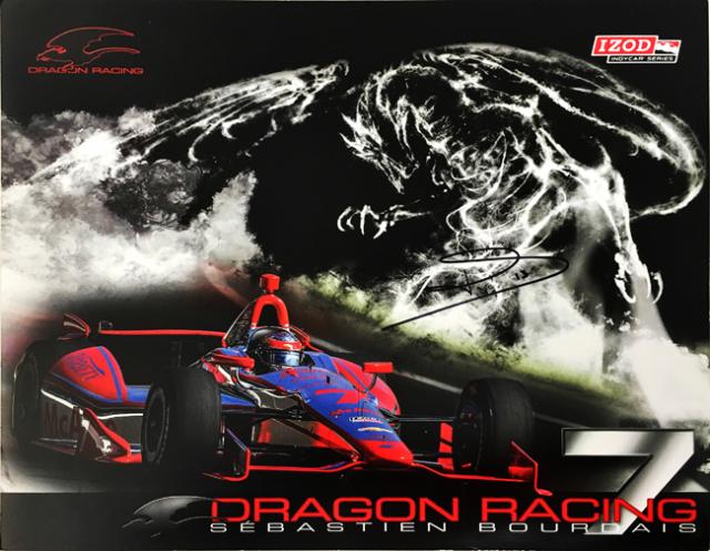 S.ボーデ 直筆サイン入 2013  インディ ドラゴンレーシング ドライバーズカード