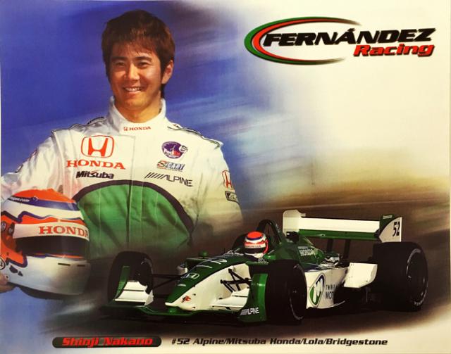 中野信治 2002  インディ フェルナンデスレーシング ドライバーズカード