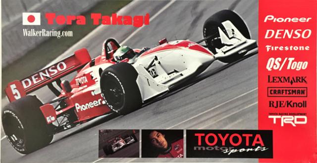 【SALE・訳アリ品】(カードの角に折れ跡があります)高木虎之介&サラ・フィッシャー 2001  インディ ウォカーレーシング チームカード