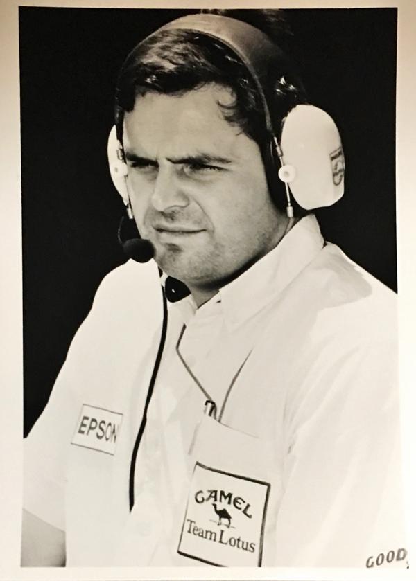 R.マンウァリング CAMEL(キャメル)ロータス ホンダ 1987 日本GP プレスフォト