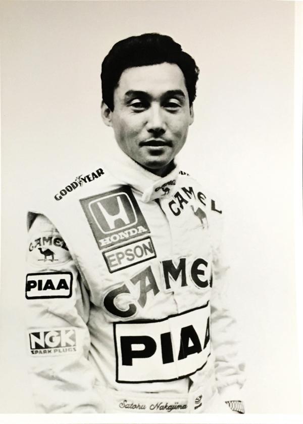 中嶋悟 CAMEL(キャメル)ロータス ホンダ 1987 日本GP プレスフォト