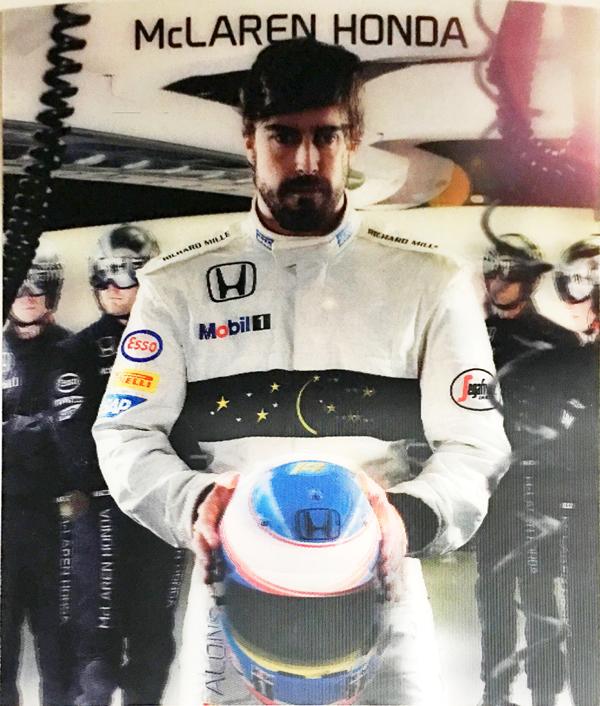 マクラーレン・ホンダ 2016 F.アロンソ 3D ドライバーズカード