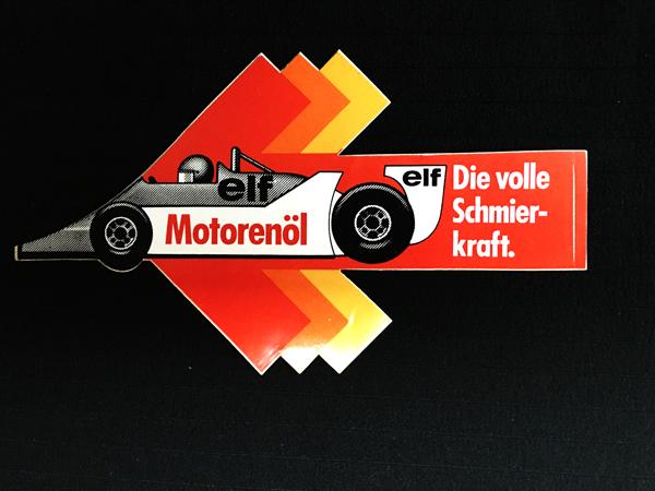 ELF(エルフ)モーターオイル 1970年代 スポンサーステッカー