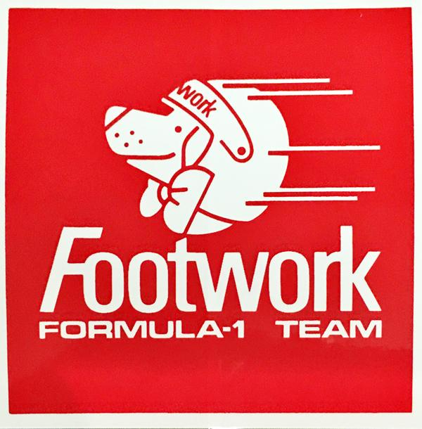 FOOTWORK フットワークF1 1991 チームステッカー