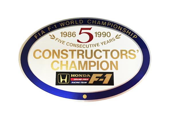 HONDA 1986~1990 5回コンストラクチャーズチャンピオン 獲得記念ステッカー