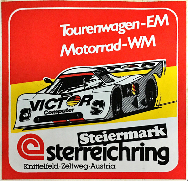VICTORコンピュータ 1970年代 STERREICHRING(現レッドブルリンク)ツーリングカーステッカー