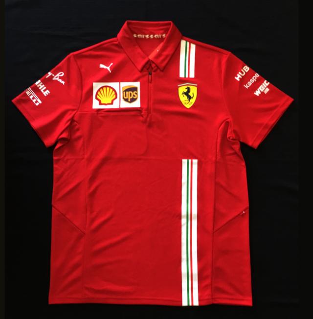 2020 フェラーリ(FERRARI F1) チーム支給品 チームスタッフポロシャツ  新品 サイズL