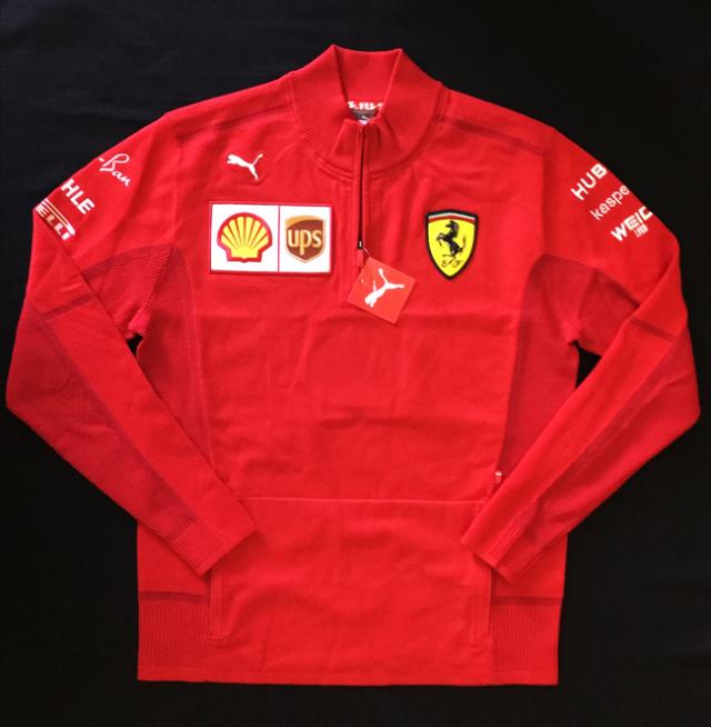 2020 フェラーリ(FERRARI F1) チーム支給品 チームスタッフ スエットジャケット  新品 サイズL
