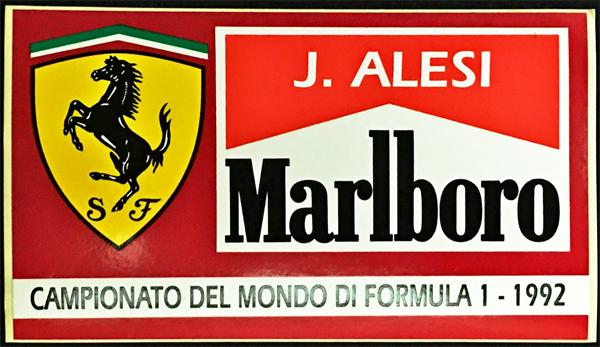 J.アレジ FERRARI MARLBORO(フェラーリ マルボロ) 1992 ステッカー