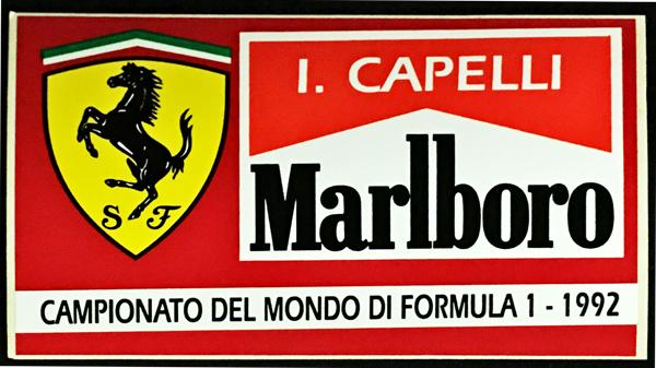 I.カペリ FERRARI MARLBORO(フェラーリ マルボロ) 1992 ステッカー