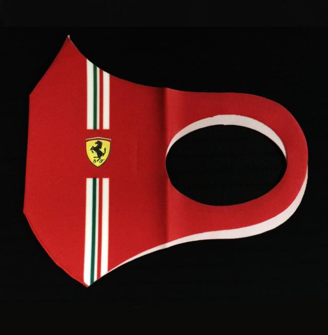 2021 フェラーリ (FERRARI F1)ドライバー&チーム支給品 フェイスマスク(新品)