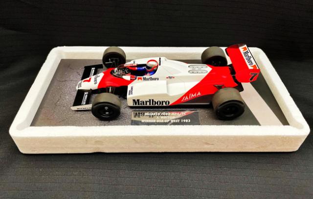 ミニチャンプス 1/18 マクラーレン フォード MP4/1C J.ワトソン 1983年アメリカGP優勝 当店オリジナルタバコモデル