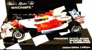 ミニチャンプス 1/43 TOYOTA(トヨタ) F1 レーシング 2006ショーカー ラルフ