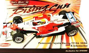 ミニチャンプス 1/43 TOYOTA(トヨタ) F1 レーシング TF106 ライジングサン台紙 ラルフ