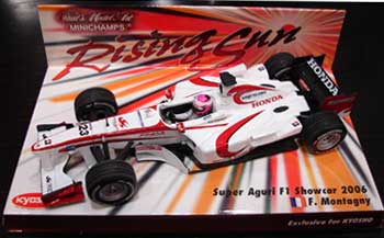 1/43 スーパーアグリ 2006ショーカー ライジングサン台紙 モンタニー