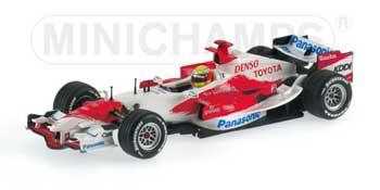 ミニチャンプス 1/43 TOYOTA(トヨタ) F1 2007ショーカー ラルフ チェッカーボックス