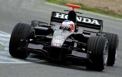 1/43 HONDA F1 レーシング ホンダ RA106 テストカー バリチェロ 2006