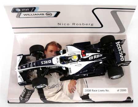 【SALE】ミニチャンプス 1/43 ウィリアムズ別注 2008ショーカー ニコ・ロズベルグ  限定ハイボックス仕様 シリアルナンバー入