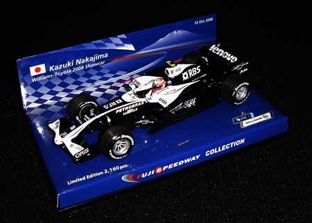 ミニチャンプス 1/43 ウィリアムズ2008ショーカー 中嶋一貴 富士スピードウェイコレクション特別限定パッケージ 2160台限定