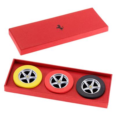 フェラーリストア限定  フェラーリ ホイール消しゴムセット(RED/YLW/BLK)